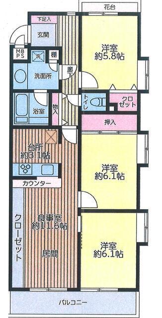 ライオンズマンション平和台第2 2階 73.99㎡ (東武練馬駅)