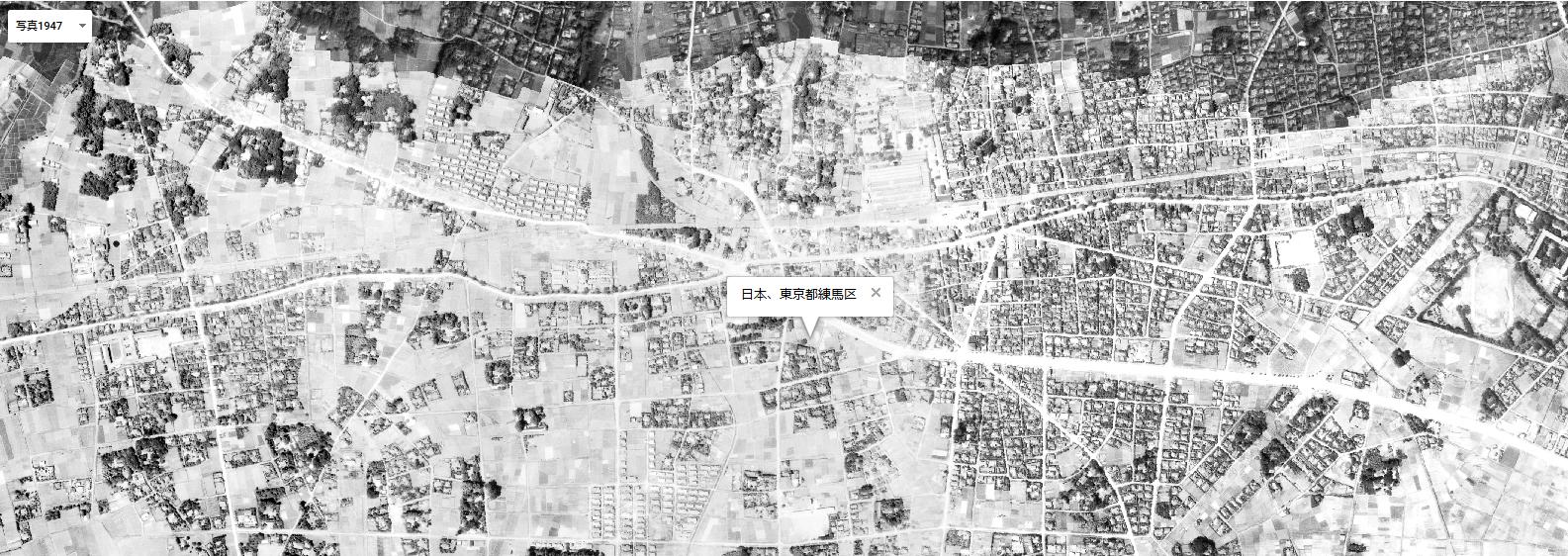 1947年(昭和22年)練馬区周辺の地図